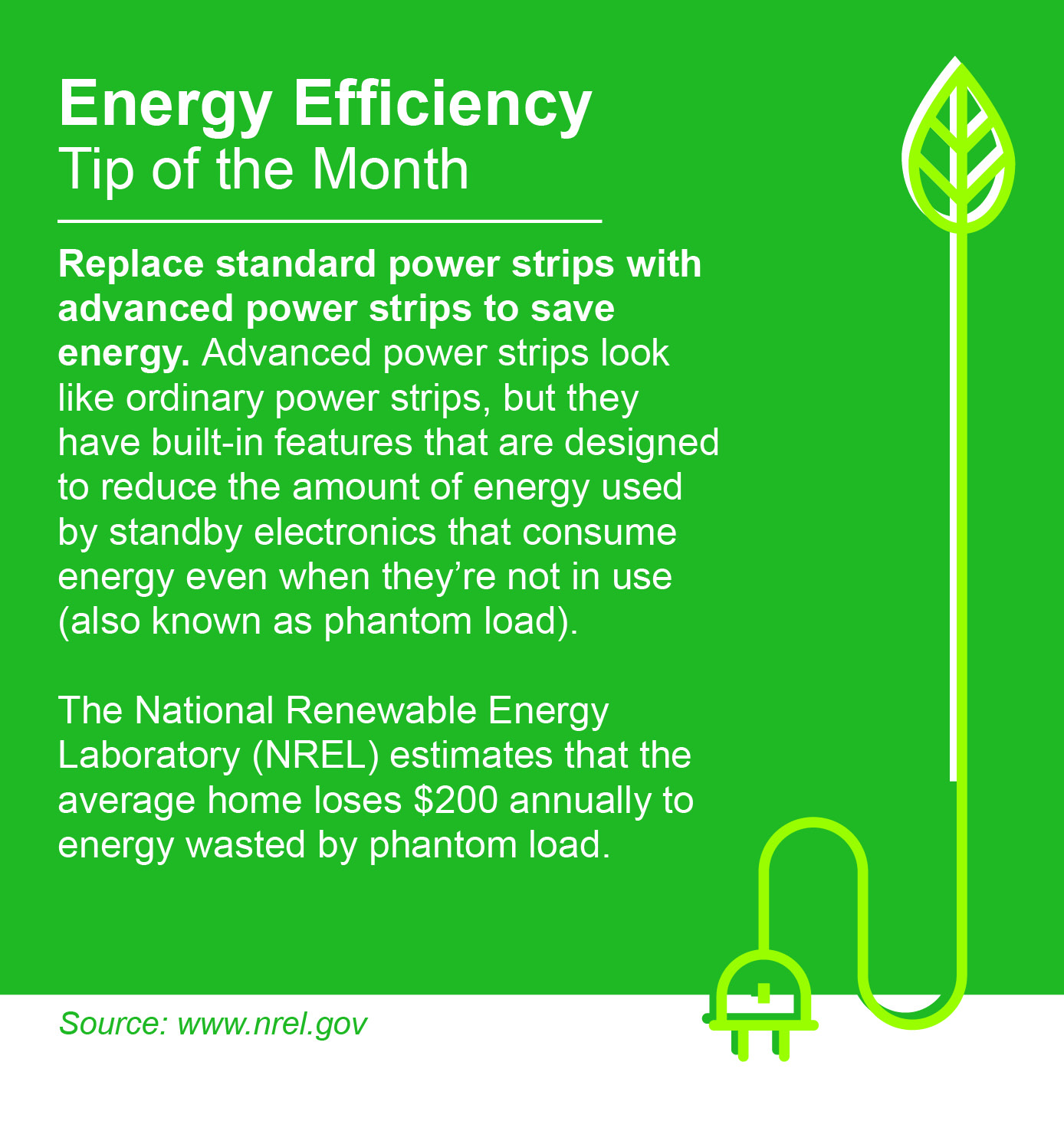 January Energy Efficiency Tip of the Month