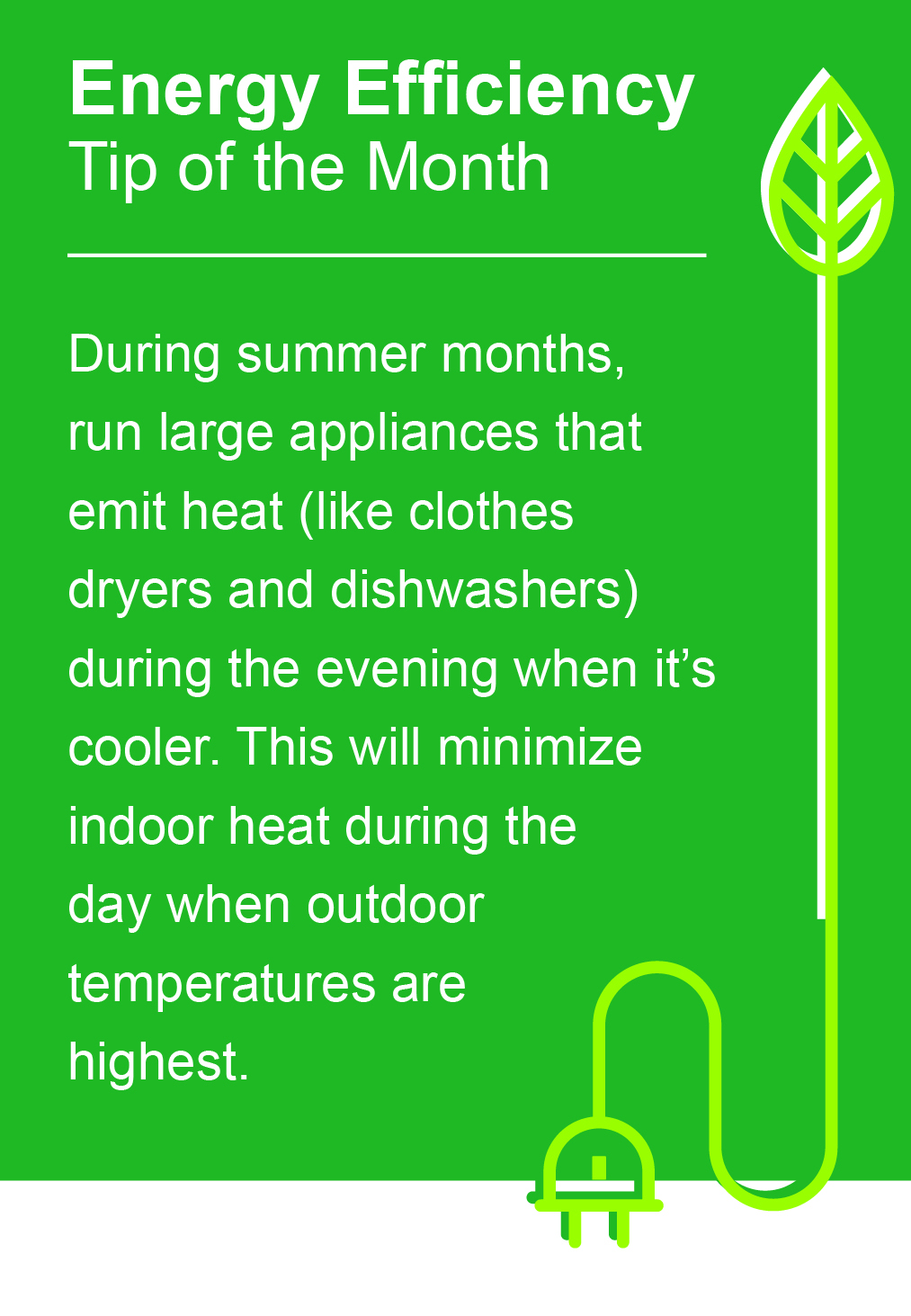 July Energy Efficiency Tip of the Month