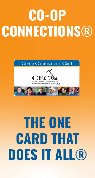 Co-op Connections orange banner the one card that does it all