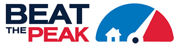 logo for the beat the peak program