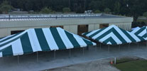 image of tents set up at Co-op ammual meeting