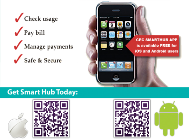image of smarthub mobile app displayed on a mobile phone